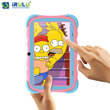 "Original iRULU Y5 7"" Babypad Quad Core Android 7.1 Touch Screen 1024*600 IPS Tablet PC 1G/16G Silicone Case Children Learning(China)"