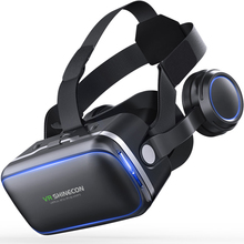 VR Shinecon 6.0 3D VR Headset Virtual Reality Glasses For smartphone VR Game Glasses With Built-in Stereo Headphones 4.7-6 Inch(China)