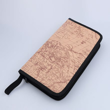 80 Discs CD VCD DVD Album Organizer Storage Bag Key Case Wallet Holder World Map Pattern Zipper bags For Games Disc DVD driver
