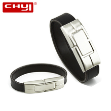 CHYI Belt USB Flash Drive Pen Drive Black Belt Wristband Design Memory Stick 4GB 8GB 16GB 32GB 64GB Pendrive For Gift(China)