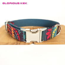Nylon Designer Dog Collars for Big Small Dogs Vintage Tribal Pattern Soft Pet Padded Dogs Collar Outdoor Travel Walking XS-XL(China)