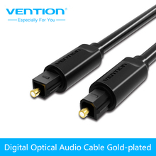 Vention Optical Audio Cable Toslink Digital SPDIF Cable Gold Plated 1m 2m for Blu-ray CD DVD Player Xbox 360 PS3 Mini Disc AV