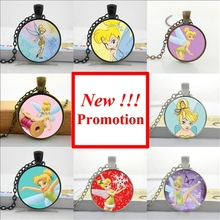 NS-0529 New Fashion fairy Necklace fairy Pendant Jewelry Glass Cabochon Necklace Pendant HZ1(China)