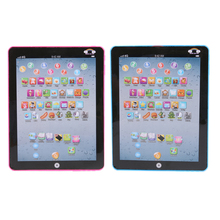 English Reading Machine Electric Tablet Simulated Touch Screen Kids Child Musical Toy Random Color