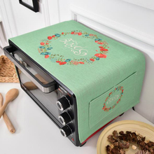 Spring Summer Flower Creative Microwave Oven Dust Cover Proof Dual-purpose Kitchen Storage Bags Pouch 35*95cm 1PC(China)