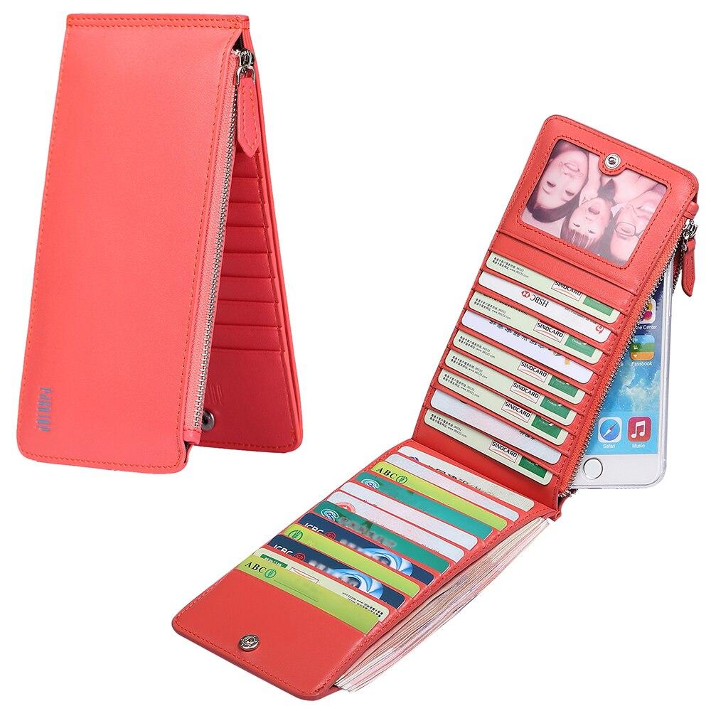 Pabojoe Famous Brand  Genuine Leather  Purse Women Pattern Smart Slim Card  Holder Men Long Wallet Fashion <br>