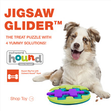 Kyjen Pet Supplies Dog Puppy Outward Hound Puzzle Game Jigsaw Glider Treat Toy Scent Puzzle Training Toy Interactive Toy(China)