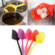 Nylon Pasta Noodle Scoop Colander Strainer Mesh Spoon Shovel Basket Home Kitchen Cooking Tools Helper Utensils Random Color(China)