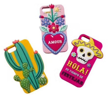 For iPhone 6 6S 7 Plus Silicone Case Cute Mexican Style Plants Cactus Capa Para Soft Rubber Cover for iPhone 6 6S 7 Plus J-14