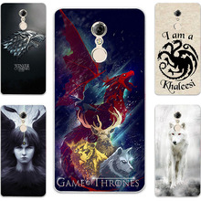 Fashion Game Of Throne House Stark Targaryen Hard PC Painting Case For Lenovo Vibe K6 Plus / K6 Note K53A48 Phone Printed Cover