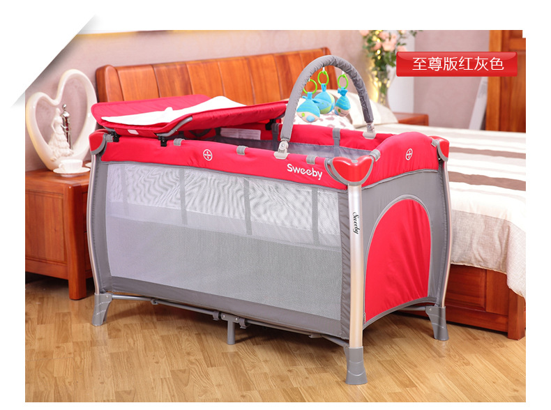 Baby Cribs Double Layer Bed Children S Cots Portable Crib For Mobility In The Cradle Game From Mother Kids On
