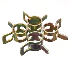 Best Price 10Pcs 6-15mm Vacuum Spring Fuel Oil Water Hose Clip Pipe Tube Band Clamp Metal Hot Sale