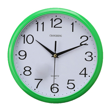 UESH-Large Vintage Round Modern Home Bedroom Retro Time Kitchen Wall Clock Quartz Green