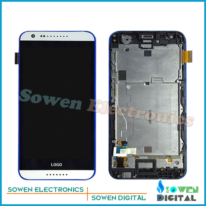for HTC Desire 620 620G LCD display with touch screen digitizer and frame assembly full sets,Black White, 100% gurantee <br><br>Aliexpress