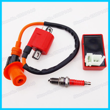 Racing Ignition Coil & AC CDI Box & Spark Plug D8TC For CG 125cc 150cc 200c 250cc ATV Quad Motorcycle  Pit Dirt Bike
