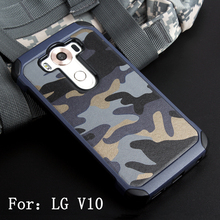 For LG V10 Case Newest Design Military Camouflage Style Armor Hard Plastic + Soft TPU Phone Cover Case For LG V10 Case 5.7''(China)