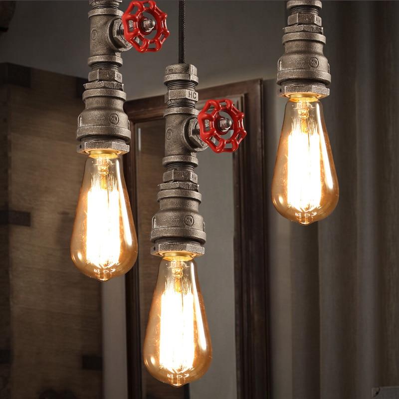 industrial loft style chandelier creative personality retro  water pipes  fixtures Chandelier Restaurant Bar<br><br>Aliexpress