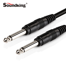 Soundking 2017 NEW Instrument Cable mono 6.35mm 1/4″ jack Male to Male Guitar Audio Cable Amplifier 6.35mm Cable 3/6/10M B18