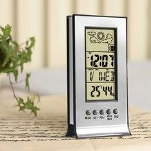 Digital Professional Weather Station Wireless Indoor Outdoor Room Thermometer Electronic Room LCD Wall Clock Hygrometer(China)