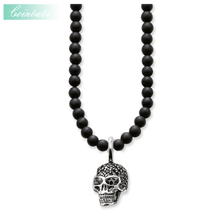 Beads Necklace Skull Trendy Gift For Women & Men, Thomas Style Heart Rebel 925 Sterling Silver TS Fashion Jewelry Wholesale