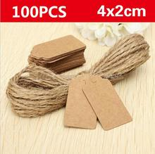 500pcs Kraft paper luggage tags head lace scallops rating label string wedding DIY hang tag white Kraft be customized LOGO(China)