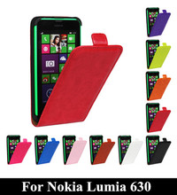 N630 Phone bag Top quality retro crazy horse leather case Magnetic Buckle vertical flip cover For Nokia Lumia 630