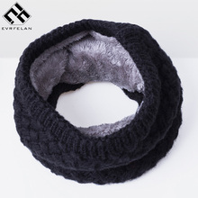 2017 New Winter Women Scarf Thickened Knitted Scarves For Men Women Fashion Warm Unisex Ring Scarf Winter Cotton Neck Scarf