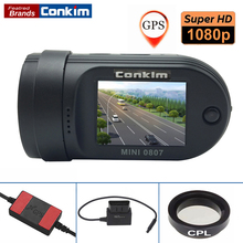"Conkim Dash Camera Mini 0807 Ambarella A7 1080P Full HD 1.5"" LCD 24 Hours Parking DVR ADAS GPS Logger Dual TF Card CPL Filter"