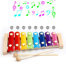 8 Scales Wooden Music Toys Musical Instruments for Children Early Educational Baby Developing Toy Kids Hand Knocking Piano 10
