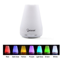 100ml Ultrasonic Aromatherapy Essential Oil Diffuser Portable Aroma Humidifier With 7 Colors Light Changing Mist Mode Adjustment(China)