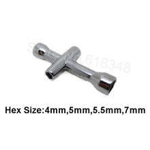 4mm 5mm 5.5mm 7mm Small Cross Wrenches Maintenance Wheel Tools Sleeve HEX For RC Car HSP 80132