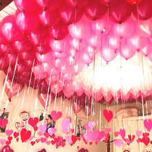 100pcs/lot 10 inch High quality Pearl balloon Romantic Pink Purple White color Wedding Decoration party supplies marriage balls(China)