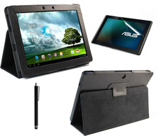 3in1 Bracket Stand luxury leather case For Asus Eee Pad Transformer TF300 TF300T + TF300 Screen Protector + Stylus pen