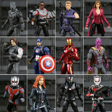 Captain America: Civil War SCARLET WITCH Black Panther Winter Soldier Falcon PVC Action Figure Collectible Model Toy