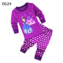 Brand New Toddler girls pijamas princess sofia children girl dora sleepwear kid pajamas set girl nightwear cartoon character