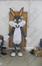 export high quality NO.4333 quality soft fur bunny mascot costumes free shipping bugs bunny costumes grey rabbit mascot costumes