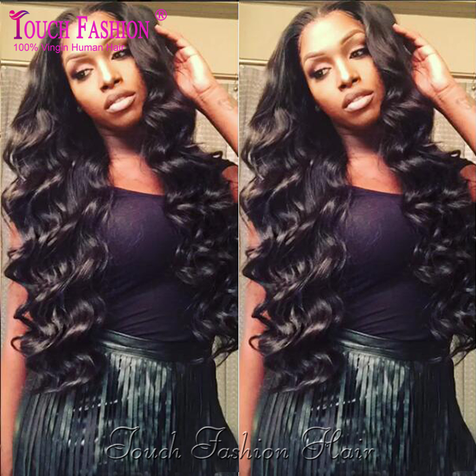 Peruvian Virgin Hair Loose Wave Lace Front Wig Natural Color Glueless Full Lace Human Hair Wigs Loose Wavy Wig With Swiss Lace<br><br>Aliexpress