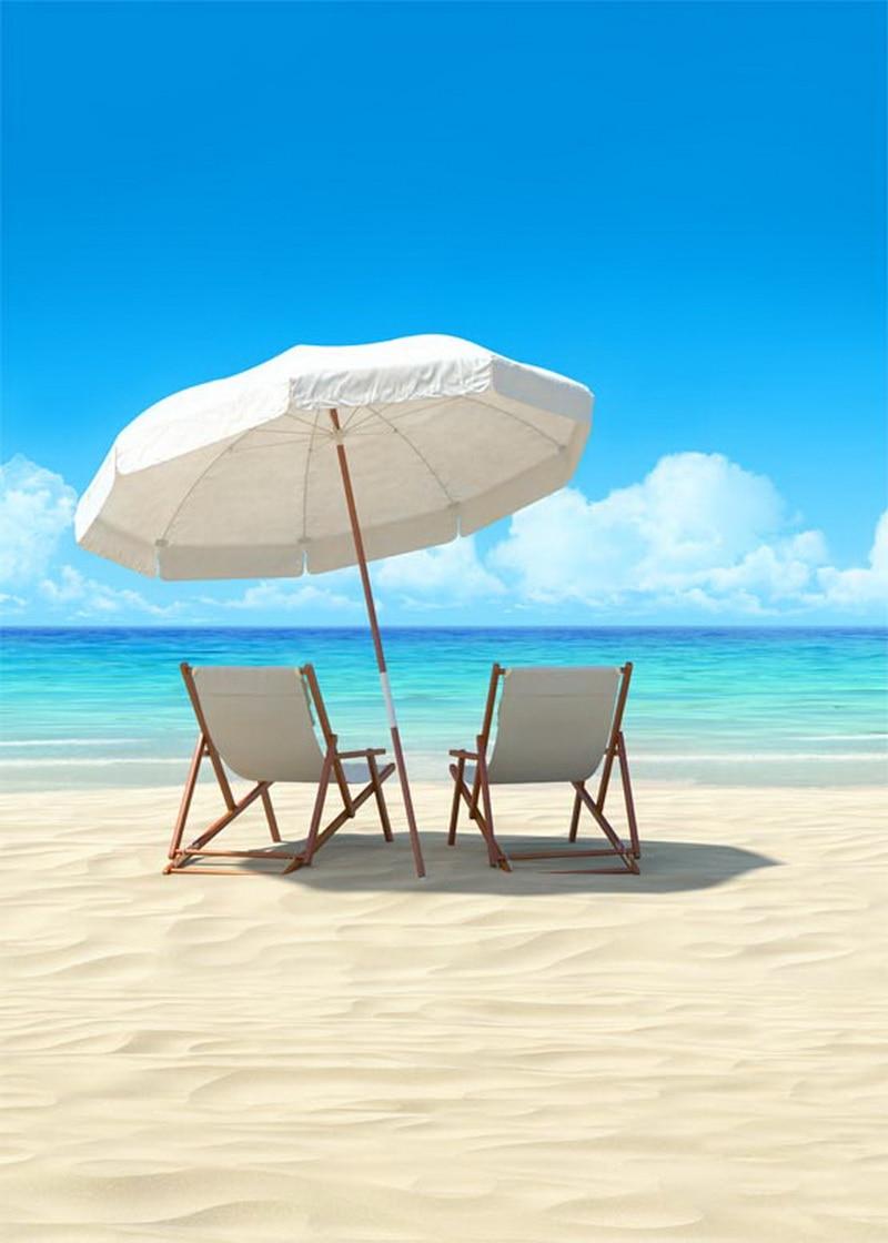 Customized  sunshine sea beach photo studio background  vinyl digital cloth photography backdrops S-558<br>