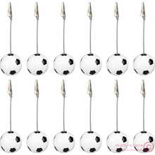 wholesale:lot 12pcs solid resin soccer/US football wire recipe&desk&card&note&memo&photo clip/holder or paper weight