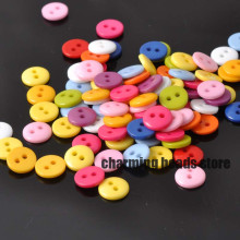 11colors Mixed Round Resin Sewing Buttons for Scrapbooking craft Fashion Accessories 100pcs 9mm YKL0060x