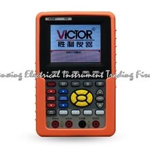 fast arrival VICTOR 220 Handheld Oscilloscope Portable Multimeter Digital Osciloscopio 20MHz Channel Logic Analyzer USB(China)