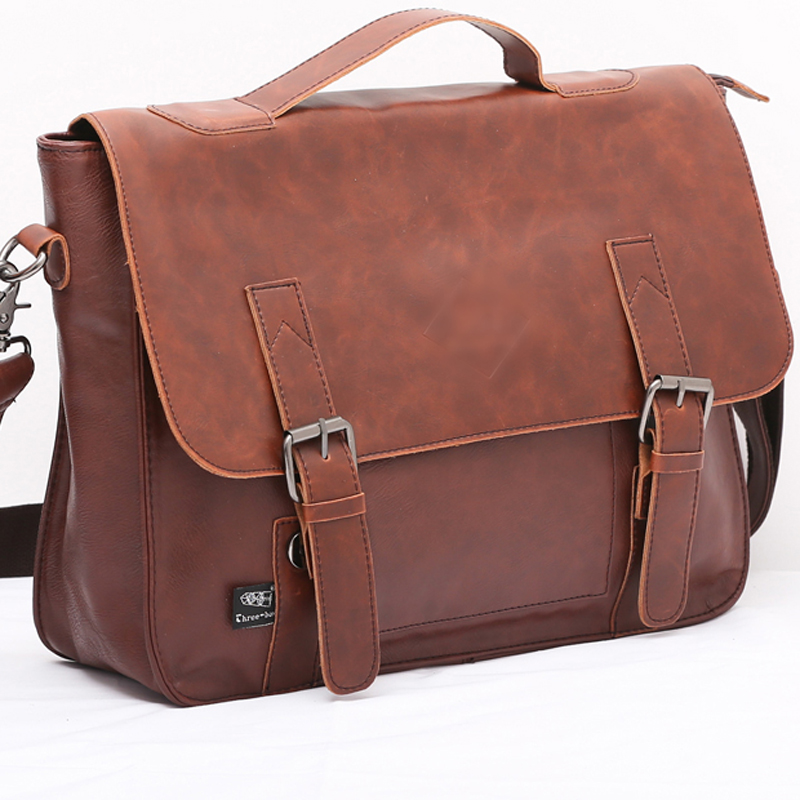 KIBDREAM High Quality Men Leather Briefcase Shoulder Bag/ Fashion Business Handbags/ Vintage Mens Portfolio Messenger Bags<br><br>Aliexpress