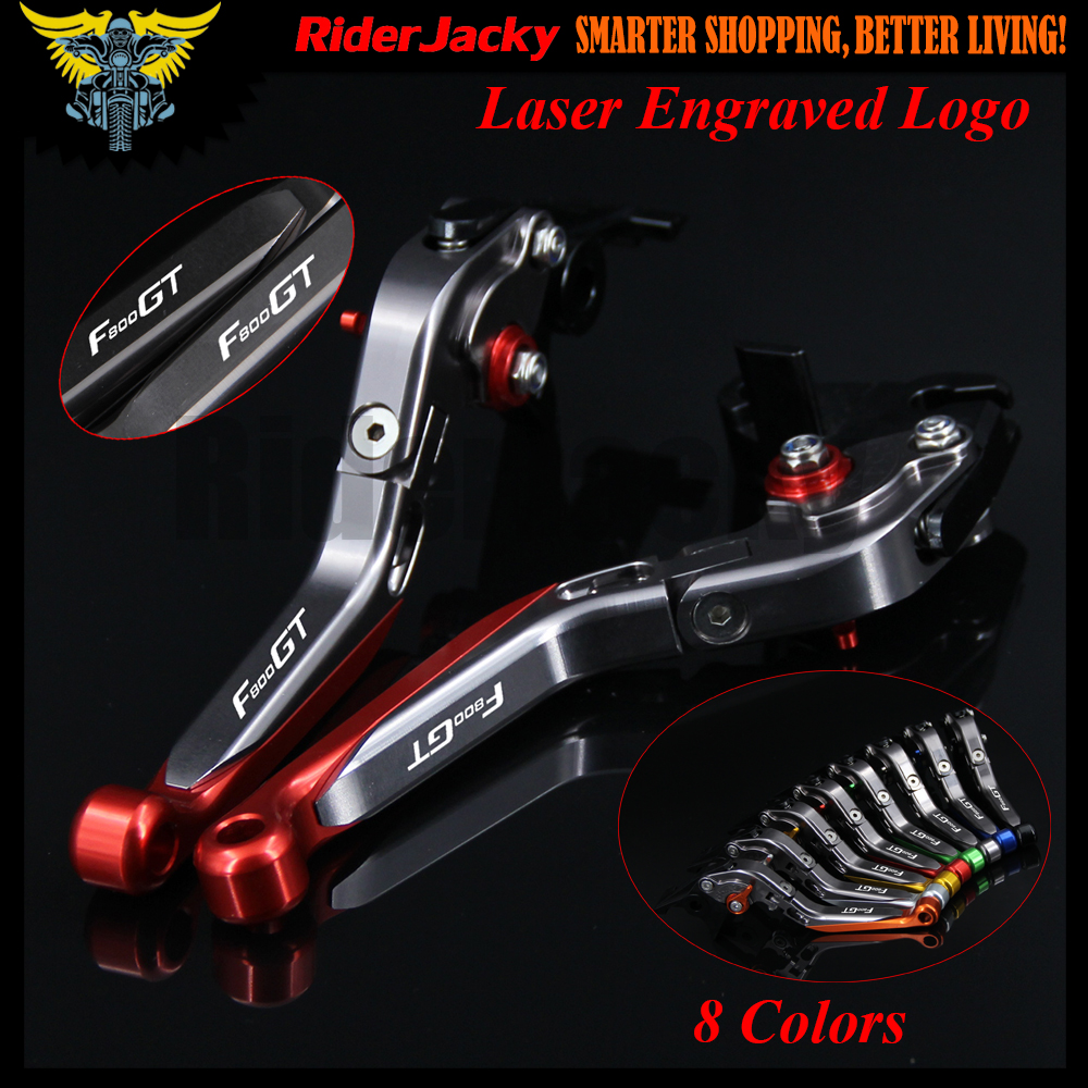 !With Logo (8 Colors )Red &amp;Titanium Motorcycle CNC Adjustable Brake Clutch Lever For BMW F800 GT F800GT 2013 2014 2015 2016 2017<br>