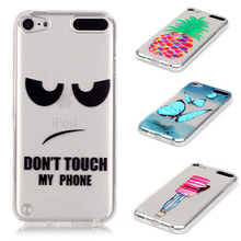 Embossed 3D Painted Silicone Phone Case For Apple iPod Touch 5 5th 5G touch5 Touch 6 6th touch6 4.0 inch Case Mobile Phone Case