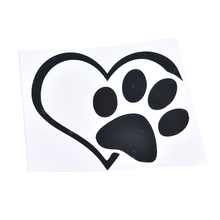 Heart Paw Vinyl Decal car truck sticker bumper window adopt bully Heart cat dog Laptop Boat Truck AUTO Bumper Wall Graphic New