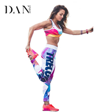 Buy DANENJOY Yoga Pants Women Print Sports Yoga Leggings Elastic Compression Tights Fitness Geometric Running Athletic Pants for $12.99 in AliExpress store