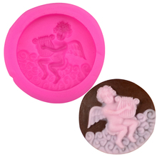 Free shipping Playing the male angel silicone mold chocolate fondant cake decoration Tools baking utensils F0204