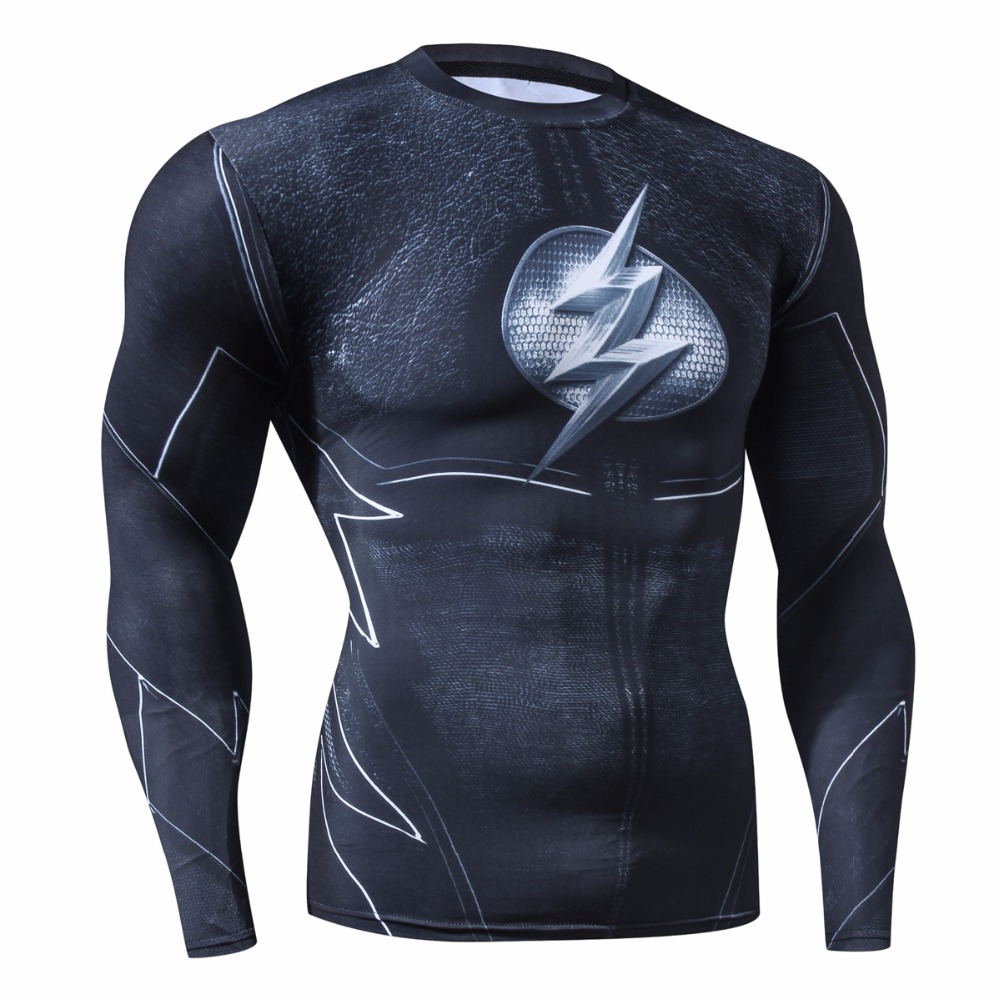 Christmas Men Fashion Compression Shirt Flash Cosp...