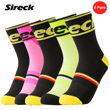 Sireck Men Women Cycling Socks Sport Running Socks Professional Breathable Basketball Football Bike Bicycle Socks Calze Ciclismo(China)