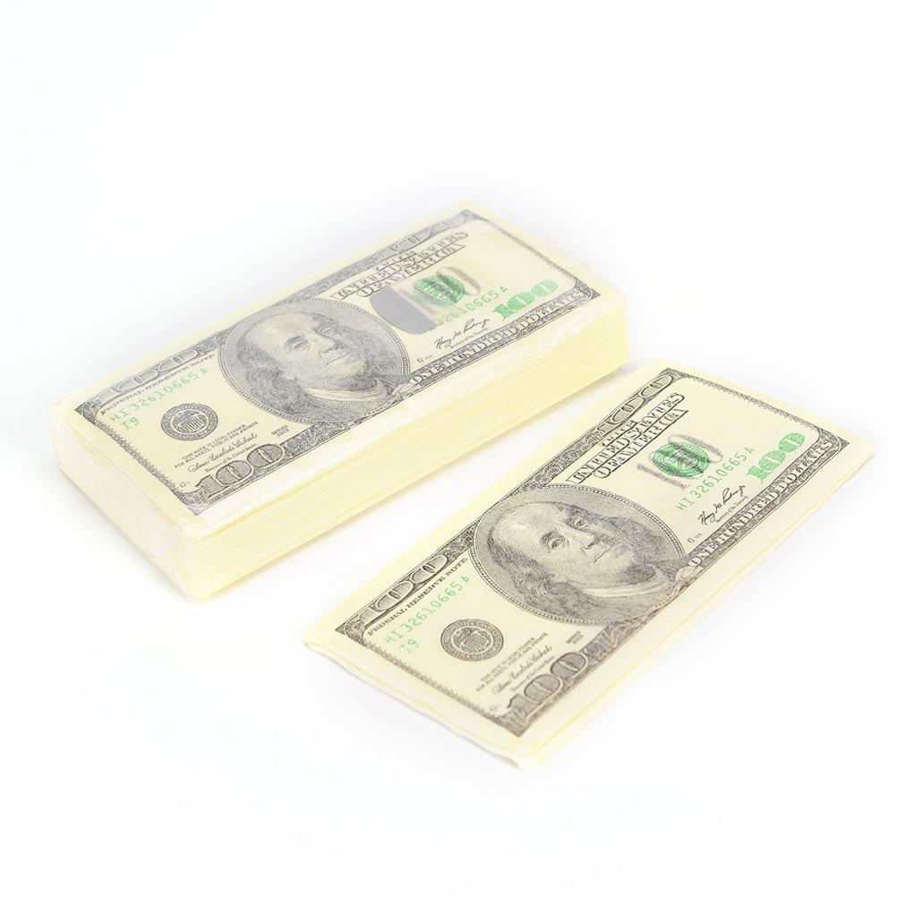 Новые персонализированные доллар Бумага салфетка праздничный и партия ткани салфетки Декупажные украшения Бумага 9 шт.(China (Mainland))